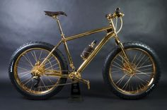 Real gold plated bike