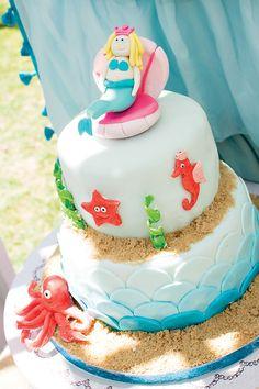 {Under the Sea} Princess Mermaid Cake