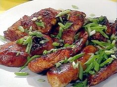 teriyaki-chicken-marinade. 1 lb chicken breasts  1 c Kikkoman's teriyaki baste and glaze ½ c barbeque sauce 1 tbl soy sauce ½ tsp brown sugar 1 tsp garlic Mix all ingredients. Add chicken to marinade (if grilling, reserve about ½ cup marinade). Marinate 1-6 hrs.Grill  or bake 375 for 45 minutes. Grilling: drain most of the marinade off before putting on the grill to prevent burning. Brush the chicken on each side with reserved marinade in last few minutes of cooking.
