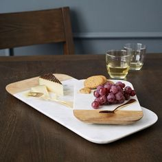 West Elm cheeseboards - mid-century modern style