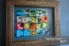 Százhuszonkettedik nap: Post-it Renoir Create 365, Renoir, Dares, Frame, Projects, Picture Frame, Log Projects, Blue Prints, Frames