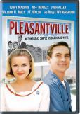 Pleasantville. Life imitates art when two modern-day teenagers get trapped in the perfect suburbia of the '50s sitcom Pleasantville. Repressed desires surface, cracks appear in the '50s lifestyles, and the Pleasantville populace finds their lives changing in strange, wonderful ways. Link to library catalog: https://mplus.mnpals.net/vufind/Record/007860452