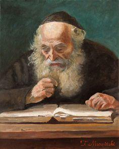 Żyd obraz olejny. Jew oil painting artist: Tomasz Mrowiński