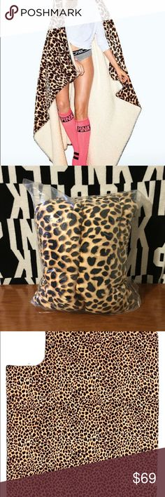 VS PINK CHEETAH SHERPA BLANKET NEW 💕NEW VS PINK💕NO LONGER AVAILABLE AT VS (they have a darker leopard one now) 💕SIZE: 60x72 💕CONDITION: NEW IN PACKAGE 💕PRICE IS FIRM💕 💕BUNDLE AND SAVE💕 💕ALL ITEMS ARE NEW WITH TAGS/NEW IN PLASTIC UNLESS STATED OTHERWISE 💕SHIPS SAME OR NEXT DAY MON-SAT💕 💕NO HOLDS💕 ❌❌❌NO TRADES❌❌❌🚨 💕PLEASE RATE IN A TIMELY FASHION💕 ❤️THANK YOU❤️ PINK Victoria's Secret Other