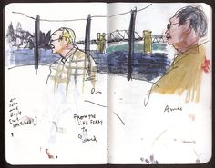 Urban Sketchers: Five hours in Canada, enjoying every drawing