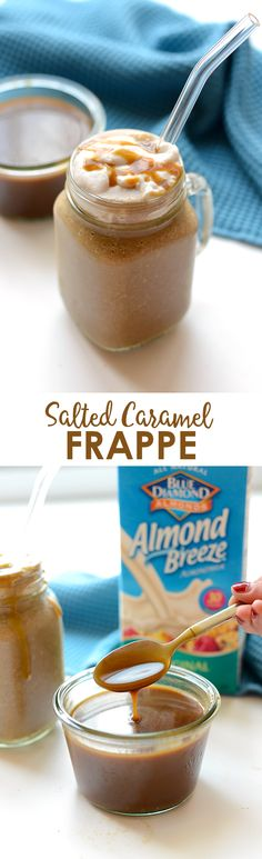 Have your coffee and breakfast too! Make this salted caramel frappe for a delicious, paleo-friendly breakfast made with frozen banana, coffee, and homemade caramel!