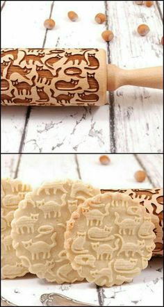 Here's the perfect rolling pin for cat lovers out there! Know someone who loves baking as well as cats? This laser-engraved rolling pin will make a great gift idea. Or if you're the baker, you can (Baking Cookies Funny) Cat Lover Gifts, Cat Gifts, Crazy Cat Lady, Crazy Cats, Cat Cafe, Kitchen Gadgets, Sweet Treats, Yummy Food, Sweets