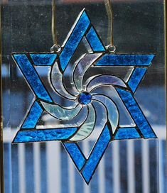 Star of David suncatcher/ wall hanging by ManemannArt on Etsy, $25.00