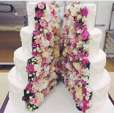 Hidden flower cake