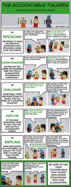 Lego Figure Accountable Talk Training - discussion moves by iriskh, via Flickr
