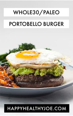 THIS ONE'S AN OLDIE, BUT A GOODIE! I've made this Whole30 Paleo Open-faced Portobello Burger recipe several times during my rounds of Whole30, and I'm just getting around to sharing it on here. One of the reasons I love it is that IT IS SO SIMPLE. The blend of flavors and textures is fun, but it is seriously so easy to make and customize. Because of this, it makes a great date night meal - it's the perfect combination of easy and delicious. Serve this burger up with a side of roasted but...
