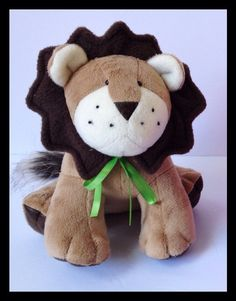 Lion Stuffed Animal Toy Plush Lion Toy Jungle by LittleLuckies2, $50.00