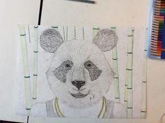 Dit is mijn eind resultaat ik ben blij met ermee ik vind de panda zelf het beste gelukt