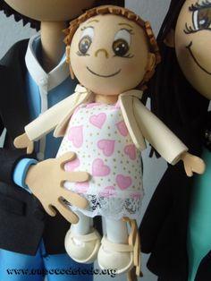 www.unpocodetodo.org - Fofuchas de Pucho, Vero y Noa - Fofuchas - Goma eva - baby - bebe - crafts - manualidades - 7