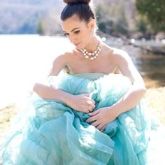 This shoot was inspired by Audrey Hepburn & the models vintage teal couture gown, which once belonged to her Parisian grandmother! Stunning!