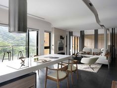 Modern Private Residence in Taiwan Overlooking a National Park