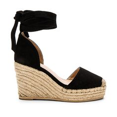 RAYE Dahlia Espadrille Wedge (241 AUD) ❤ liked on Polyvore featuring shoes, sandals, heels, platform sandals, espadrille wedge shoes, espadrille wedge sandals, wedge shoes and synthetic shoes
