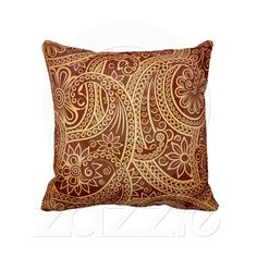 Shop I always knew paisley would make a comeback throw pillow created by reasbey. Sofa Pillows, Accent Pillows, Throw Pillows, Custom Pillows, Decorative Pillows, Urban Cottage, Decoration, Paisley, Interior Decorating