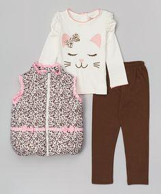a14e7f5ef3 Young Hearts Pink Leopard Vest Set - Girls. Chaleco NiñoConjuntos Para  NiñosRopa ...