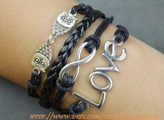 Bracelet owl bracelet infinity bracelet love bracelet by handworld, $7.39