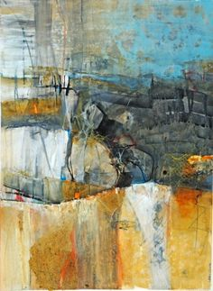 The Kelvin Ravine near the Niima Outpost on the western side of Goazon Badlands of Jakku. Lesley Clarke colour palette blue and orange Abstract Oil, Abstract Canvas, Abstract Landscape, Abstract Expressionism, Landscape Paintings, Abstract Portrait, Portrait Paintings, Acrylic Paintings, Art Paintings