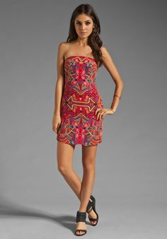 MARA HOFFMAN Strapless Party Dress in Mola Red at Revolve Clothing