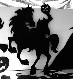 Headless Horseman Halloween Silhouettes LARGE by thecarvingcompany