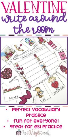 This Valentine's Day activity is perfect to use in your kindergarten or first grade classroom. Not your typical worksheet, it will get your students out of their seats and having FUN! Great for teaching vocabulary, holiday icons, and working together. Also great for ESL students to practice.