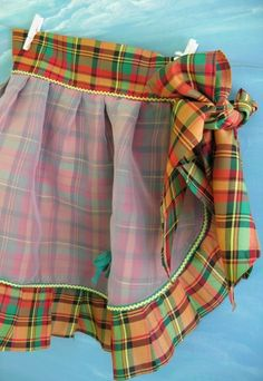 Vintage apron in plaid