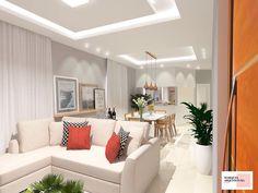 Sala de estar #saladeestar #living #livingroom #integrada #tv #clean #decoração #decoration #design #arquitetura #homedecor #marquesarquiteturaedesign