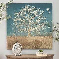 Golden Bird Tree Canvas Art Print   Kirklands