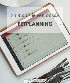 Waarom zou je een eetplanning maken en waarom is het zo handig? Waar moet je rekening mee houden als je een eetplanning maakt? Lees nu mijn tips!