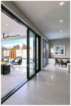 When Wideline stacking doors are opened they provide seamless transition from outside to in and floo
