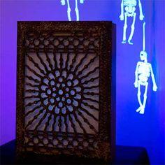 Black-light Box salvage style DIY Halloween Party Decoration
