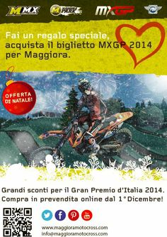 Flyer ufficiale delle promozioni natalizie per i biglietti dell'MXGP of Italy 2014 a Maggiora