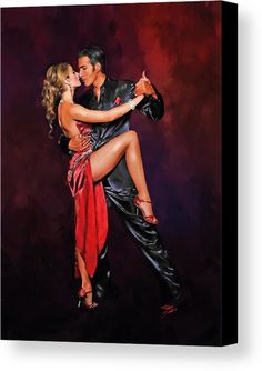 Stelle di tango Canvas Print by Fabio Saolini. All canvas prints are professionally printed, assembled, and shipped within 3 - 4 business days and delivered ready-to-hang on your wall. Choose from multiple print sizes, border colors, and canvas materials. Tango Art, Mode Poster, Afrique Art, Dance Paintings, Flamenco Dancers, Argentine Tango, Shall We Dance, Salsa Dancing, Pinup