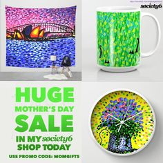 off art prints + framed prints. off Mugs + carry-all pouches. Mothers Day sale now on at my webshop. Use Promo Code: MOMGIFTS - .Offer Ends: May @ PT. Sale Promotion, Special Promotion, Mother's Day Deals, Everything Free, Hello Spring, Framed Art Prints, Gifts For Mom, Coding, Mothers