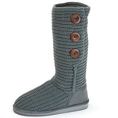 Alpine Swiss Womens Crochet Cardigan Button Boot