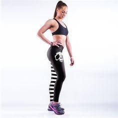 Sexy Women Legging 2017 Number Printing High Ankle-length Legging Spring Cultivation Thin Elastic Academia Roupa Feminina