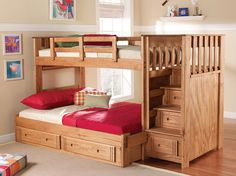 Sibley Twin over Full Stairway Bunk Bed