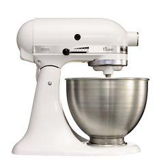 Robot de cocina Kitchen Aid 5K45SS EWH con bol de acero inoxidable