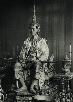 It was after completing monkhood and the sad death of his older brother, that Prince Bhumibol Adulyadej ascended the throne & was crowned King of Thailand on 5 May 1950