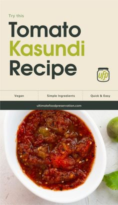 Looking for ways to preserve tomatoes? Try this easy fermented sauce recipe from India called Kasundi. This sweet and spicy dip is a great way to ferment tomatoes and is also an ideal marinade for meat. | More jam and jelly recipes at ultimatefoodpreservation.com #kasundirecipe #chutneyrecipe #indianrecipes #indianfood Chutney Recipes, Sauce Recipes, Tomato Tomato, Jam And Jelly, India Food, Jelly Recipes, Chutneys, Sweet And Spicy, Yummy Snacks