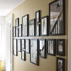 mooie manier van foto's ophangen