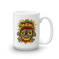 """Mind Flip Productions """"MFP Skull"""" Coffee Mug"""