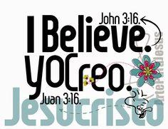 ARTEPARAJESUS: I BELIEVE JOHN 3:16 - CREO, JUAN 3:16.