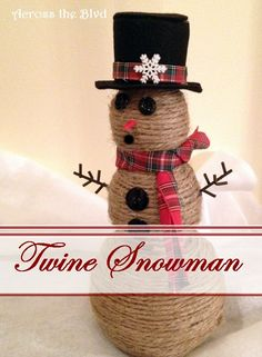 Twine Wrapped Snowman Across the Blvd