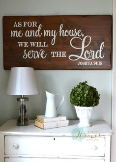 """""""As for me and my house"""" Wood Sign {customizable}"""