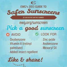 sunscreen guide