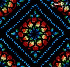 Jaime D. Designs: Stained Glass Afghan